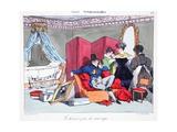 Le Dernier Jour De Veuvage, Illustration from 'Les Marionnettes' by Henri Monnier, Lithographed… Giclee Print by Henri Bonaventure Monnier