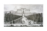 View of the Villa Del Castel' Pulci, Seat of the Marchese Riccardi, from 'Views of Tuscany' by… Giclee Print by Giuseppe Zocchi