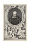 Portrait of George Buchanan, after Frans Pourbus, Illustration from 'Heads of Illustrious Persons… Giclee Print by Jacobus Houbraken