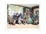 Faubourg St. Honoré, Illustration from 'six Quartiers De Paris' by Henri Mo Giclee Print by Henri Bonaventure Monnier