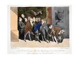 Le Directeur, Chefs, Sous-Chefs, Employes, Surnumeraires, Etc. Allant Complimenter Une Nouvelle… Giclee Print by Henri Bonaventure Monnier