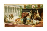 Cleopatra Testing Poison on Condemned Slaves, 1887 Giclee Print by Alexandre Cabanel