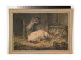 Courtship in a Cowshed, C.1790 Giclee Print by Julius Caesar Ibbetson