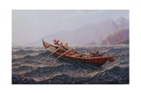 People in a Rowing Boat Giclee Print by Hans Andreas Dahl