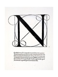N, Illustration from 'Divina Proportione' by Luca Pacioli (C.1445-1517), Originally Pub. Venice,… Giclee Print by  Leonardo da Vinci