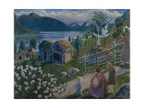 Grey Weather at Sandalstrand Giclee Print by Nikolai Astrup