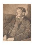 Portrait of Emile Verhaeren, 1892 Giclee Print by Théo van Rysselberghe