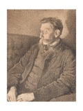 Portrait of Emile Verhaeren, 1892 Giclee Print by Theo Van Rysselberghe