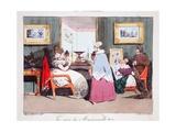 La Mère De Mademoiselle, Illustration from 'Les Marionnettes' by Henri Monnier, Lithographed by… Giclee Print by Henri Bonaventure Monnier