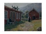 Farmyard, Western Norway Giclee Print by Hans Andreas Dahl