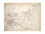 Map of Prussia and Poland, Published by William Blackwood and Sons, Edinburgh and London, 1848 Giclee Print by Alexander Keith Johnston