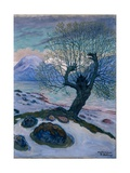 March Morning, Spring Night and Willow Giclee Print by Nikolai Astrup