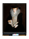 Portrait of Lady Bennet, C.1590 Giclee Print by Hieronymus Custodis