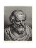 Portrait of Ancient Greek Philosopher Democritus Giclee Print by Peter Paul Rubens