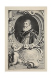 Portrait of Charles Howard, Earl of Nottingham, Illustration from 'Heads of Illustrious Persons… Giclee Print by Jacobus Houbraken