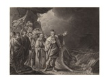 Canute Reproving His Courtiers Giclee Print by Robert Edge Pine