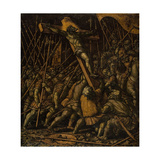 Raising of the Cross, C.1530 Giclee Print by  Girolamo Da Treviso II