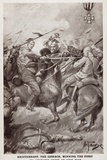 Kriutchkoff, the Cossack, Winning the First St George's Cross of World War I Photographic Print by Alfred Pearse
