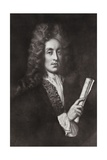 Portrait of Henry Purcell Giclee Print by Johann Closterman