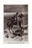 Rescuing a Wounded Comrade under Fire, World War I Giclee Print by Alfred Pearse