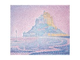 Mont Saint-Michel, Fog and Sun, 1897 Gicléetryck av Paul Signac