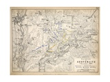 Map of the Battle of Austerlitz, Published by William Blackwood and Sons, Edinburgh and London,… Giclee Print by Alexander Keith Johnston