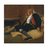 Laying Wounded, Setesdal, 1866 Giclee Print by Olaf Isaachsen
