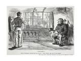 """Trying"", Illustration from 'Punch' Giclee Print by Charles Keene"