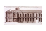 Facade of Part of Monsieur Crozat's House, Place Louis Le Grand, Paris, from 'Architecture… Giclee Print by Jean Mariette