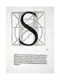 S, Illustration from 'Divina Proportione' by Luca Pacioli (C.1445-1517), Originally Pub. Venice,… Giclée-Druck von  Leonardo da Vinci
