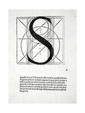 S, Illustration from 'Divina Proportione' by Luca Pacioli (C.1445-1517), Originally Pub. Venice,… Giclee Print by  Leonardo da Vinci