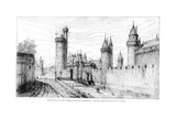 Entrance to the Louvre in the 14th Century, 1885 Giclee Print by Theodor Josef Hubert Hoffbauer