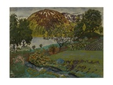 June Night in the Garden Giclee Print by Nikolai Astrup