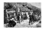 Eviction of an Irish Farmer by English Police, Print Made by F. Moller, fro Giclee Print by Charles Auguste Loye