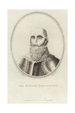 Portrait of Sir Edward Osbadiston Giclee Print by Moses Griffith