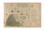 Tilling Rice, Yuan Dynasty Giclee Print by Cheng Qi