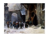 Children Leaving School Giclée-Druck von Marc Louis Benjamin Vautier