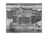 View of Menshikov's Palace on Vasilievsky Island, 1717 Giclee Print by Alexei Fyodorovich Zubov