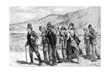 Irish Harvesters on their Way to England, 1881 Giclee Print by Aloysius O'Kelly