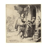 A Travelling Rat Catcher with the Tools of His Trade and with Customers Giclee Print