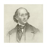 Portrait of Hans Christian Andersen Giclee Print