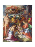 The Nativity, 1534 Giclée-Druck von Perino Del Vaga