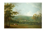 A Distant View of Towneley Hall, C.1777 Giclee Print by George the Elder Barret