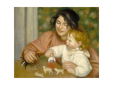 Child with Toys, Gabrielle and the Artist's Son, Jean, 1895-96 Giclee Print by Pierre-Auguste Renoir