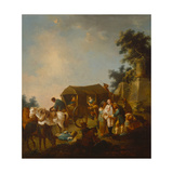 Bandits Attacking a Wagon, C.1700-25 Giclee Print by Johann Georg Trautmann