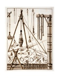 Knots and Pulleys, Engraved by Martino Schede Giclee Print by Francesco Rostagni