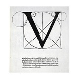 V, Illustration from 'Divina Proportione' by Luca Pacioli (C.1445-1517), Originally Pub. Venice,… Giclée-Druck von Leonardo Da Vinci