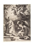 Annunciation, from 'The Life of the Virgin' Series, 1594 Giclee Print by Hendrik Goltzius