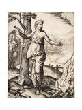 Dido (Death of Dido), C.1513 Giclee Print by Marcantonio Raimondi
