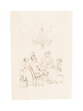 Satan and Three Men at a Table Giclee Print by Auguste Hervieu